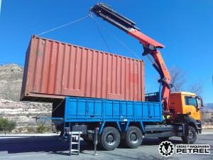 camion grua autocargante contenedor elda petrer
