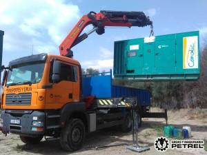 transporte camion grua alternador