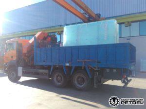 Transporte villena camion grua autocargante