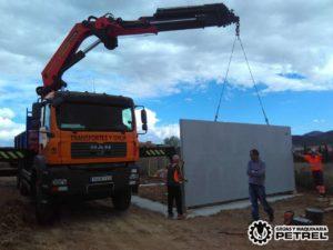 camion grua pinoso caseta prefabricada
