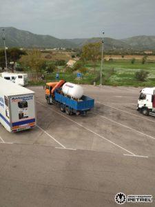 Deposito GLP camion grua transporte petrer villena Elda Monovar