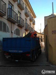 Transporte de materiales y grua elda petrer sax monovar