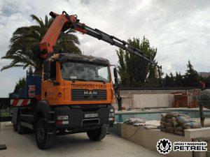 viga metalica petrer elda camion grua
