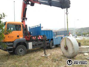 aquiler grua elda camion grua transportes petrer
