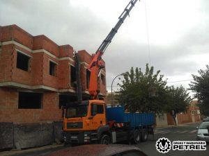 camion grua sax mortero hormigon